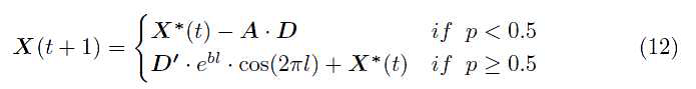 4 الگوریتم بهینه سازی وال (WOA)